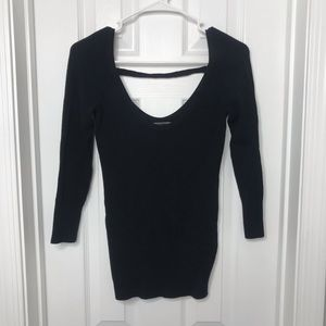 Guess Black Open Back Shirt / Blouse